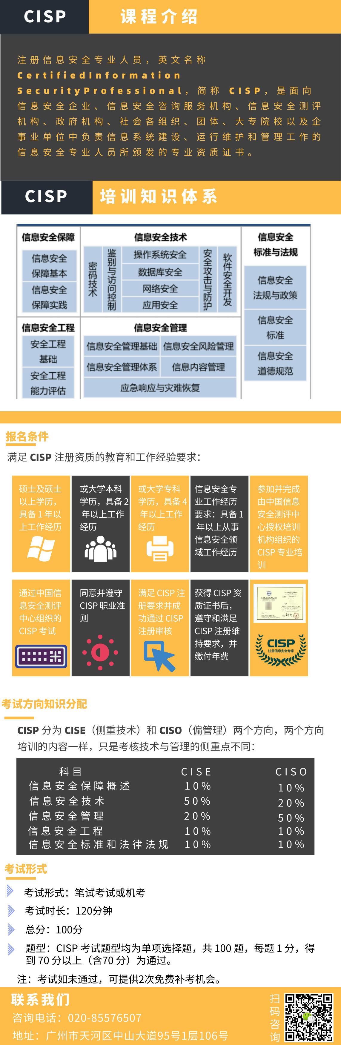 CISP(信息安全专业人员)认证